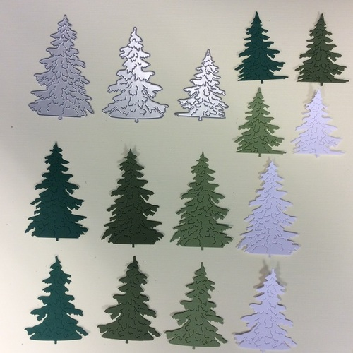 Kerstboom set 41 - mosgroen