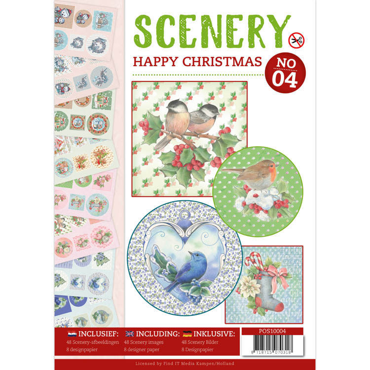 Push Out boek Scenery 4 - Happy Christmas