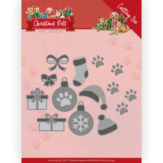 Dies - Amy Design - Christmas Pets - Christmas Cat