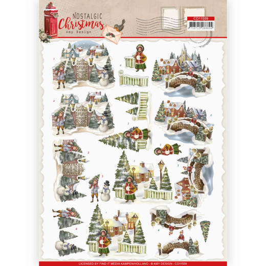 3D cutting sheet - Amy Design - Nostalgic Christmas - Christmas Village