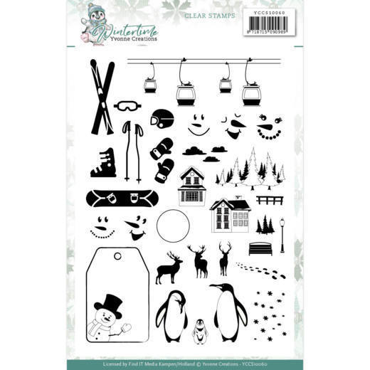 Clear Stamps - Yvonne Creations - Winter Time
