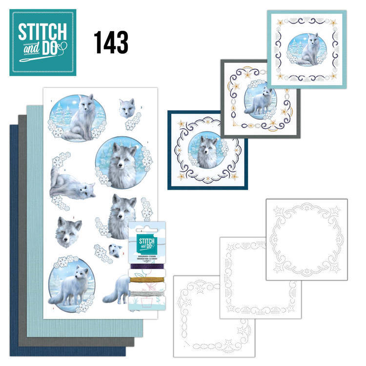 Stitch and Do 143 - Amy Design - Winter Foxes