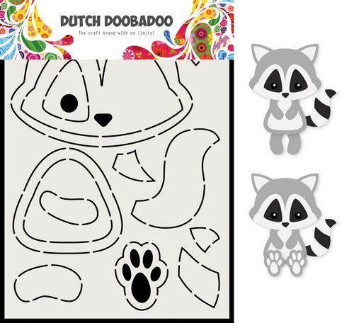 Dutch Doobadoo Card Art A5 Wasbeer