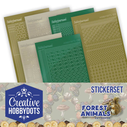 Creative Hobbydots Stickerset 12 - Forest Animals