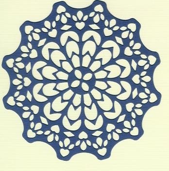 Canadian Kaleidoscope Doily 35 D.paars