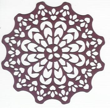 Canadian Kaleidoscope Doily 14 - Bordeaux