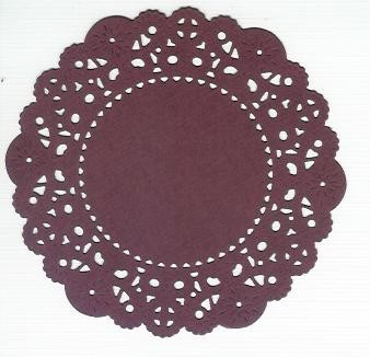 French Pastry Doily Cheery Lynn 14 - Bordeaux