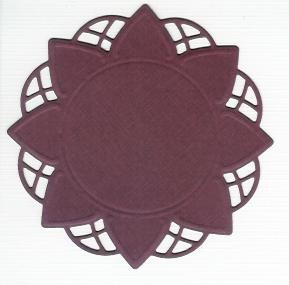 Flower Doily Creatables 14 - Bordeaux