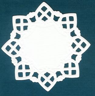 Square Doily Creatables 01 - wit