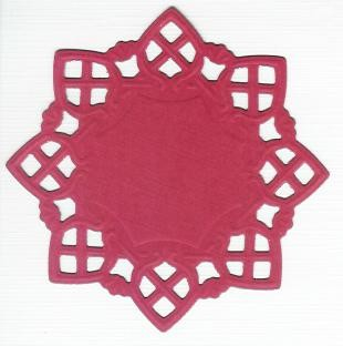 Square Doily Creatables 13 - Rood
