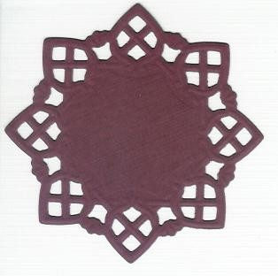 Square Doily Creatables 14 - Bordeaux
