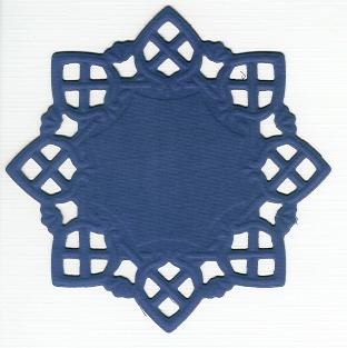 Square Doily Creatables 35 - D.Paars