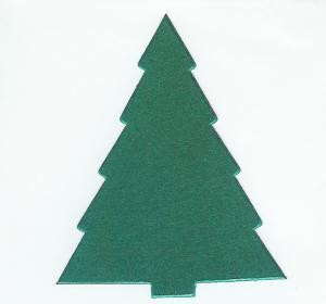 Kerstboom middel 030 - D.Groen metallic