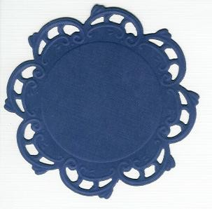 Round Doily Creatables 35 - D.Paars