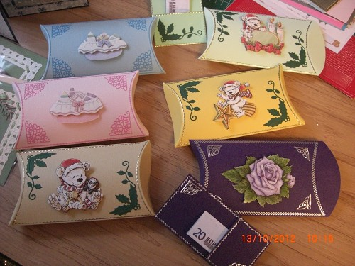 Kado envelopje Pillow 01 - wit